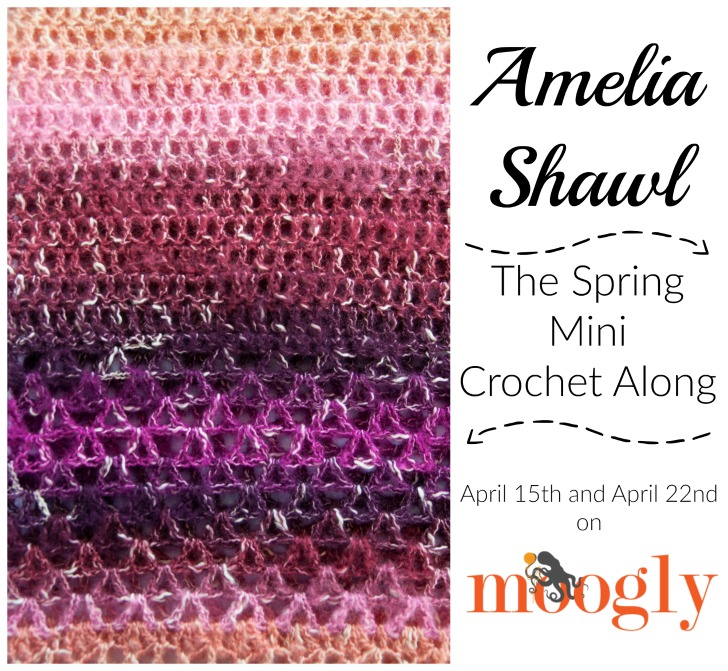 The Spring Mini Crochet Along on Moogly is the Amelia Shawl! Get the supply list on Mooglyblog.com!