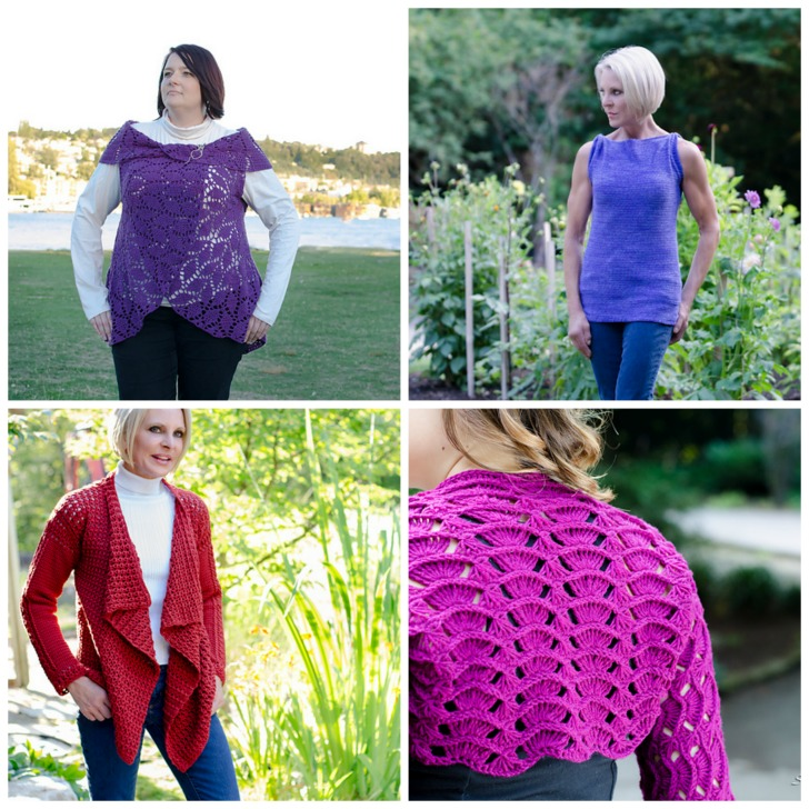 Projects from Crochet Geometry by Shannon Mullett-Bowlsby