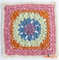 Block #9 in the Moogly 2016 Afghan CAL! All the patterns are free all year long!