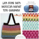 Lion Brand Yarn Moroccan Market Tote Giveaway!