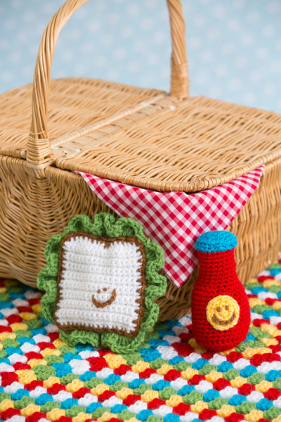Playtime Picnic Set: 3 pc crochet set for baby by Tamara Kelly of Moogly!