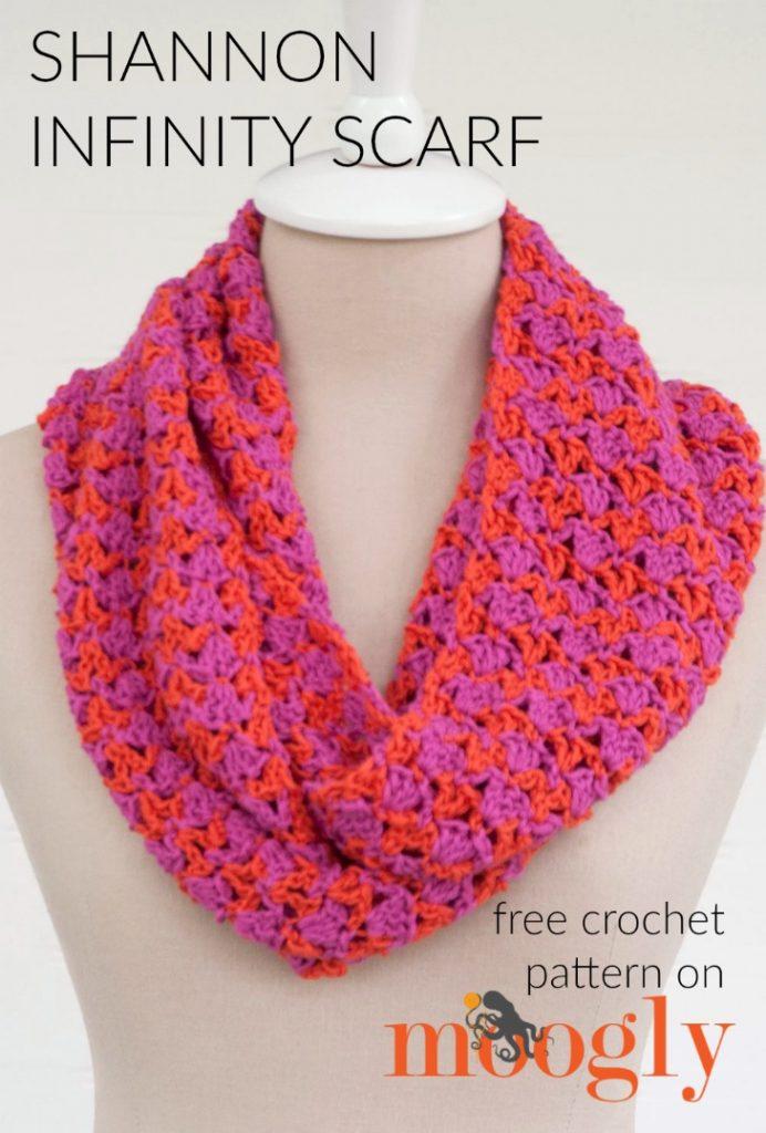 Free Crochet Pattern Shannon Infinity Scarf