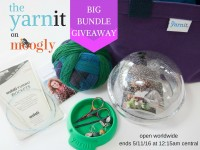 Win this gorgeous prize package from the Yarnit! Giveaway open worldwide on Moogly, ends 5/11/16