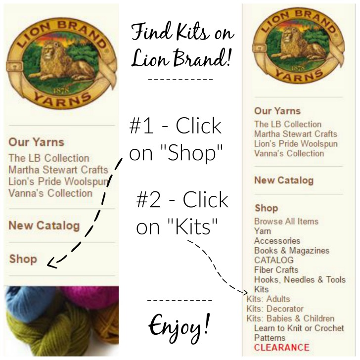 Lion Brand sells kits?! Yes! See my faves on Mooglyblog.com!