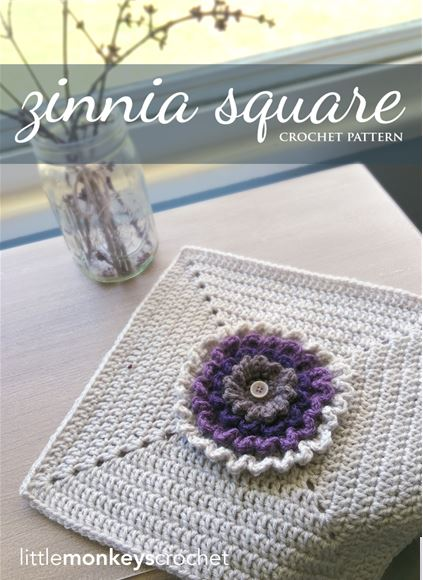 Zinnia Square by Little Monkeys Crochet