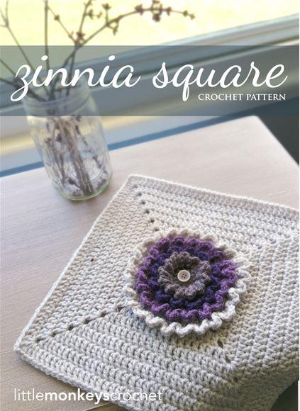 Zinnia Square by Little Monkeys Crochet