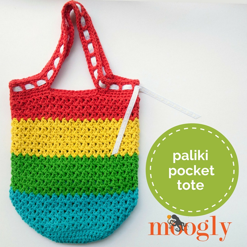 Free Crochet Pattern For Small Tote Bag : Free #Crochet Pattern: Paliki Pocket Tote - moogly