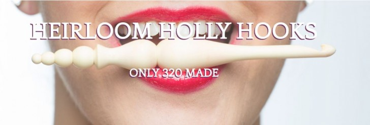 Gorgeous Furls Holly Hook - limited edition heirloom wooden hook! Win one on mooglyblog.com - giveaway ends 5/16/16