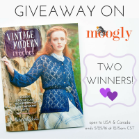"Win ""Vintage Modern Crochet"" on Moogly! See image and post for details!"