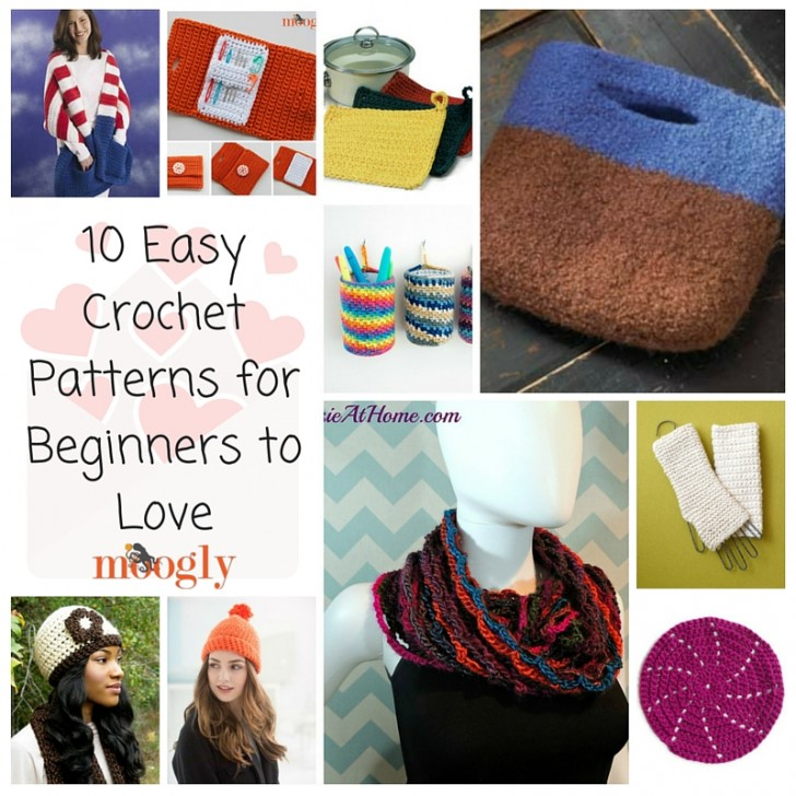 10 Easy Crochet Patterns for Beginners to Love on Mooglyblog.com!