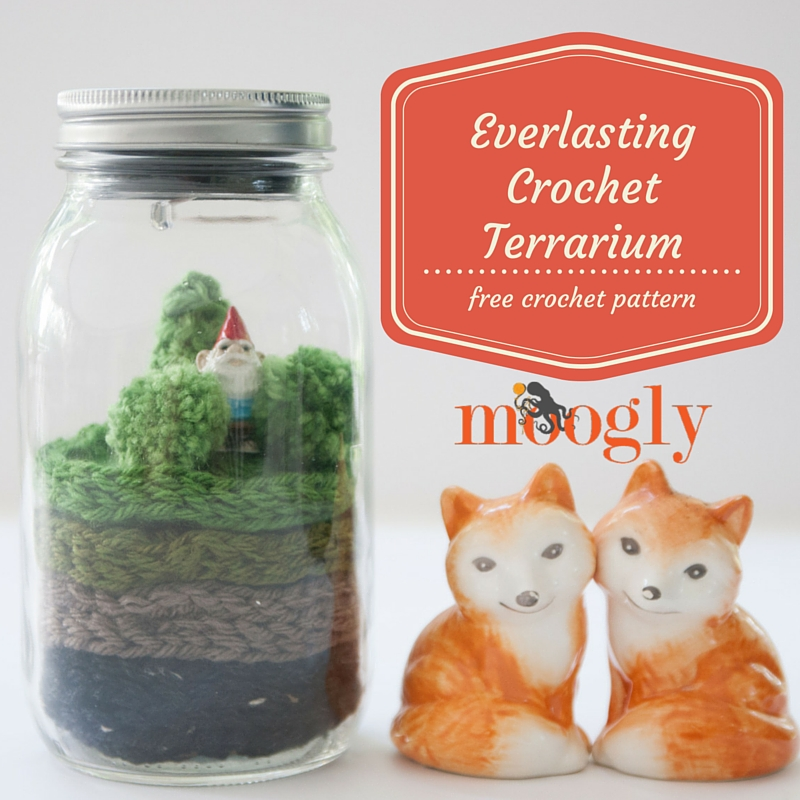 Everlasting Crochet Terrarium - free crochet pattern on Moogly!
