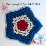 Star Spangled Trivet and Hot Pad - free crochet pattern on Mooglyblog.com!