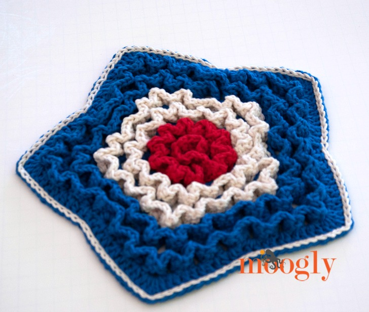 Star Spangled Trivet angled