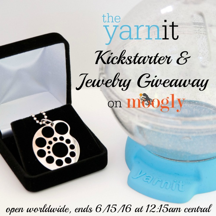 The Yarnit is expanding with an exciting new Kickstarter! Get in on the action and enter to win this gorgeous needle gauge pendant on Moogly! Giveaway ends 6/15/16