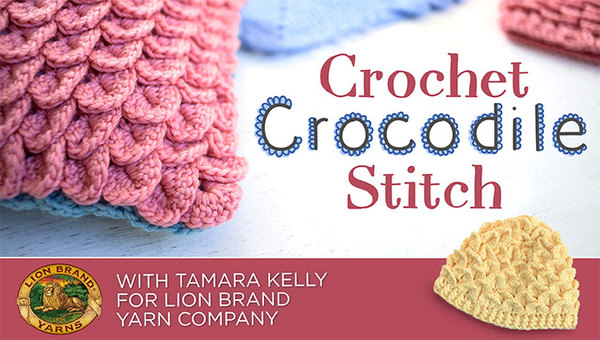 Learn to crochet the Crocodile Stitch - rows, rounds, increases and decreases!