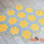 Bee's Knees Crochet Rug - free crochet pattern on Mooglyblog.com! #lionbrandyarn #tonal #homedecor #diy #crochet #crochetpattern #hexagons #boho