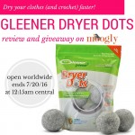 Gleener Dryer Dots Giveaway on Moogly!