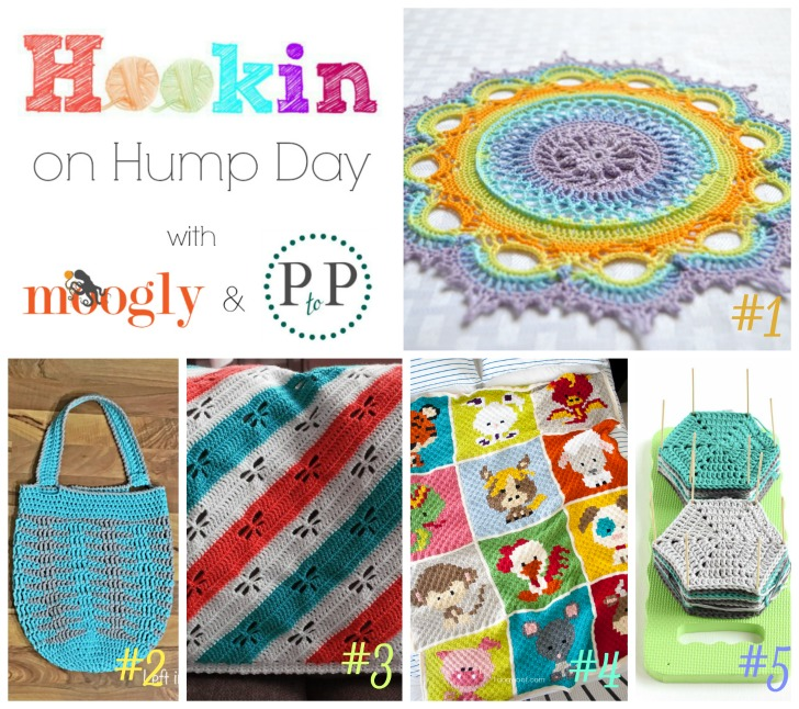 Hookin On Hump Day 122 - 5 new and fantastic projects for you to try today! ♥ Add your own projects for a chance to be featured next round!