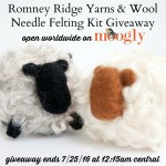 Romney Ridge Yarns & Wool Needle Felting Kit Giveaway!