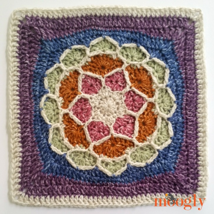 Block #16 in the Moogly Afghan CAL - Joyful Square!