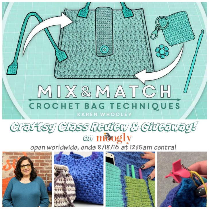 Mix & Match Crochet Bag Techniques: Review & Giveaway on Moogly! Open worldwide, ends 8/18/16 at 12:15am central.
