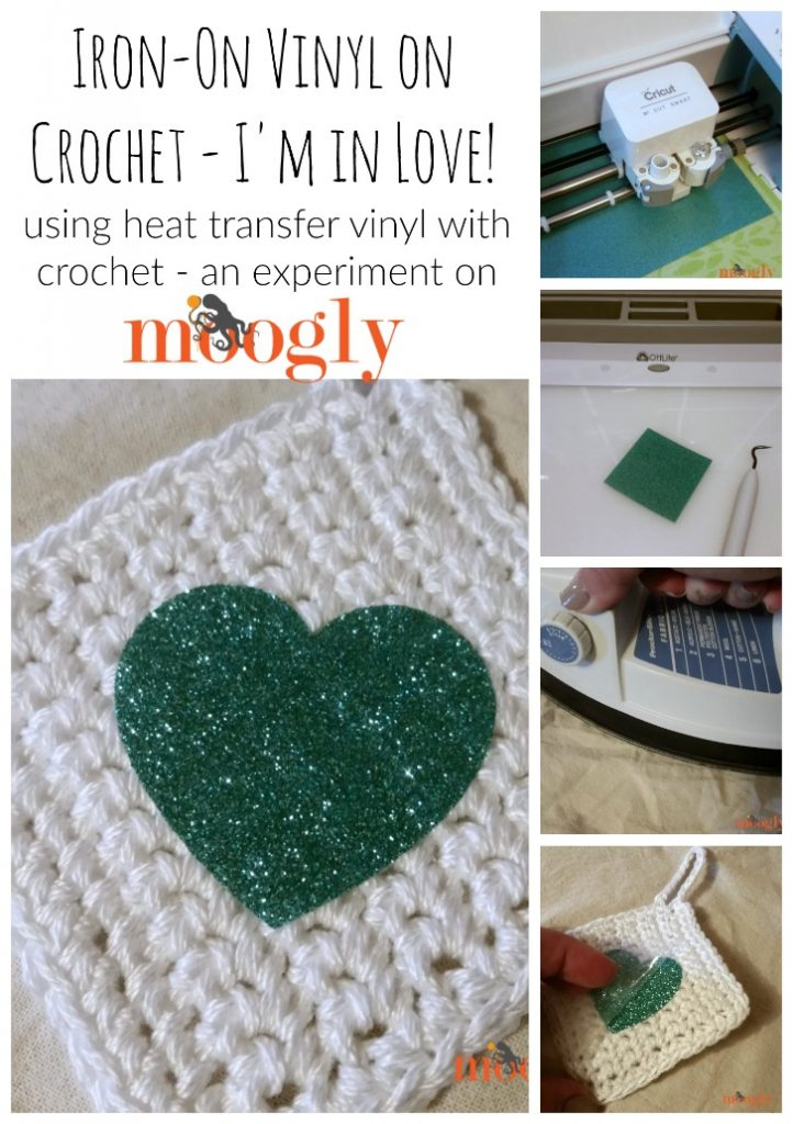 Learn how to use heat transfer vinyl with crochet on Moogly!