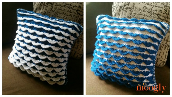 Reversible Ruffle Pillow Couch Moogly