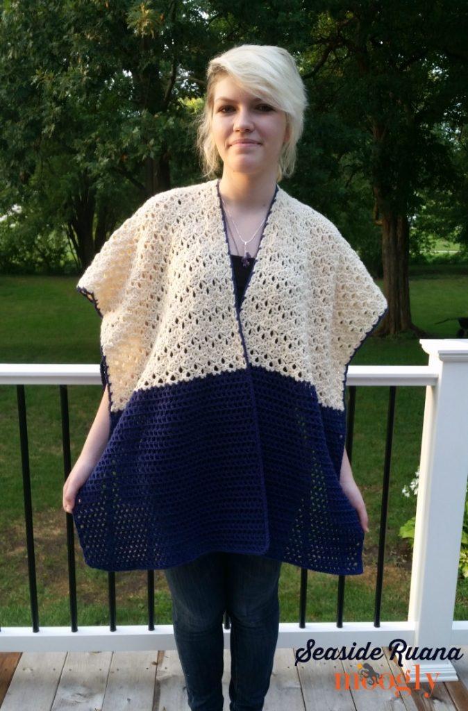 Free Crochet Pattern Seaside Ruana On Moogly