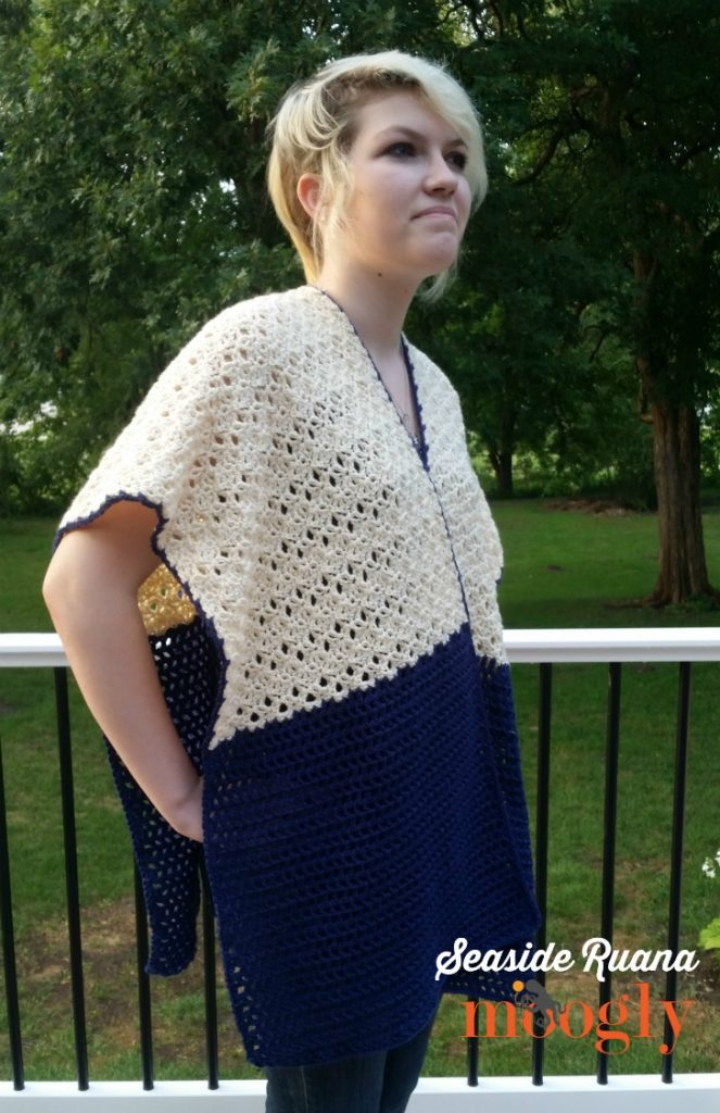Free Crochet Pattern Seaside Ruana On Moogly