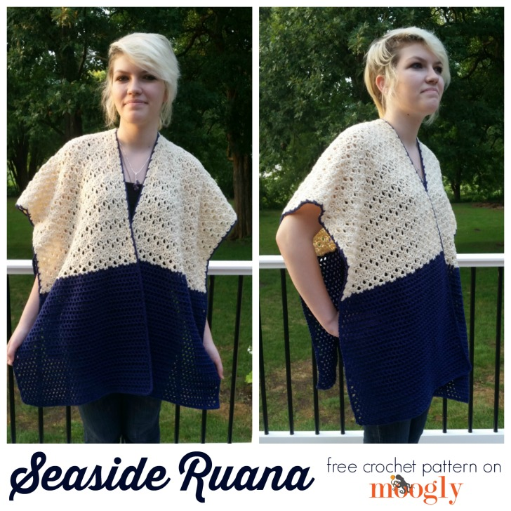 Seaside Ruana - free crochet pattern on Mooglyblog.com!