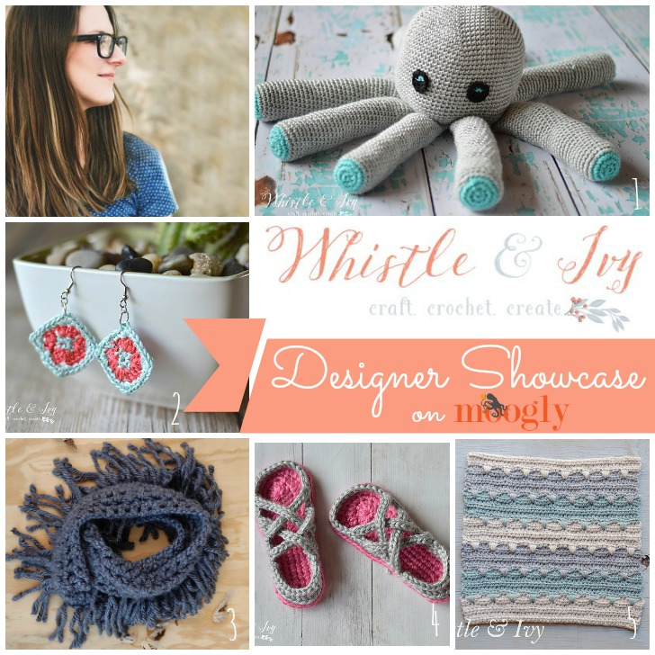 Whistle & Ivy is in the Moogly Designer Showcase! Get 5 FREE crochet patterns on Mooglyblog.com!