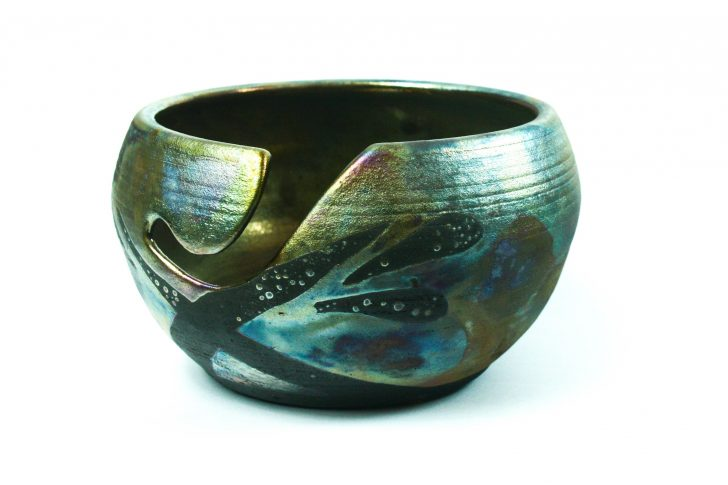 LickinFlames Yarn Bowls - gorgeous! Art to add beauty to every crochet or knitting session.