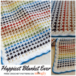 Happiest Blanket Ever - free crochet pattern on Mooglyblog.com!