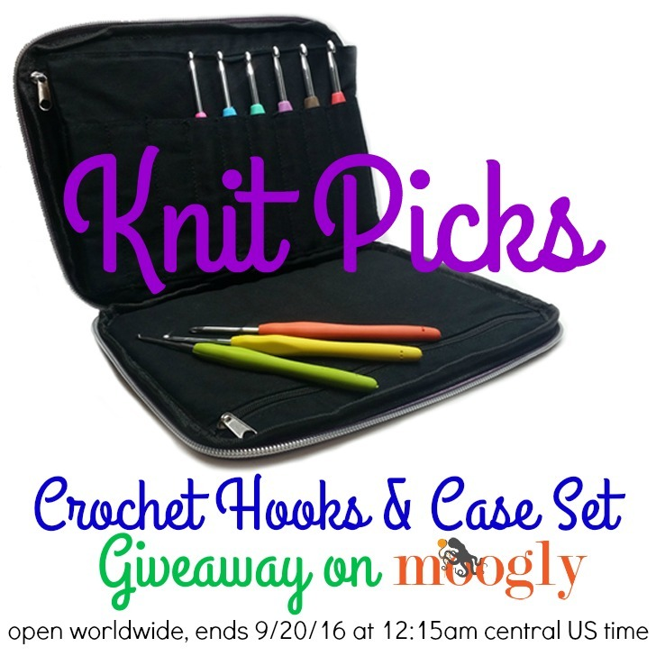 Knit Picks Crochet Hooks and Case Set - Giveaway on Moogly! Giveaway ends 9/20/16 at 12:15am central, and is open WORLDWIDE!