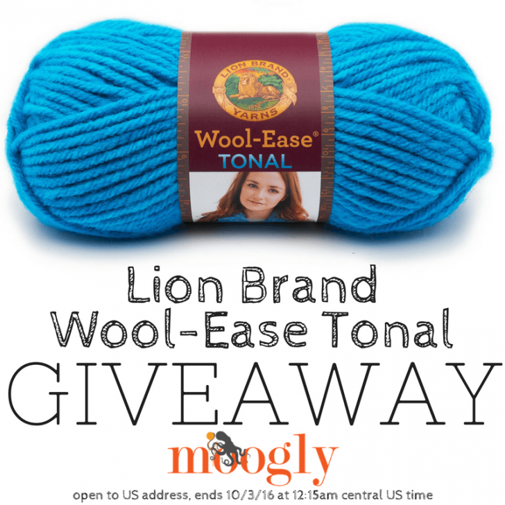 Lion Brand Wool-Ease Tonal Giveaway on Moogly! Open to US addresses, ends 10/03/16 at 12:15 am Central US time.