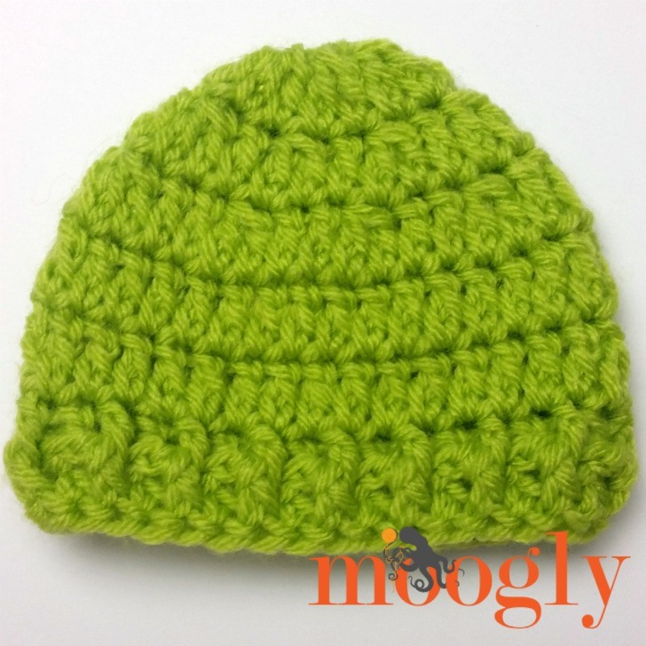 Super Speedy Preemie Hat - free crochet pattern on Mooglyblog.com!