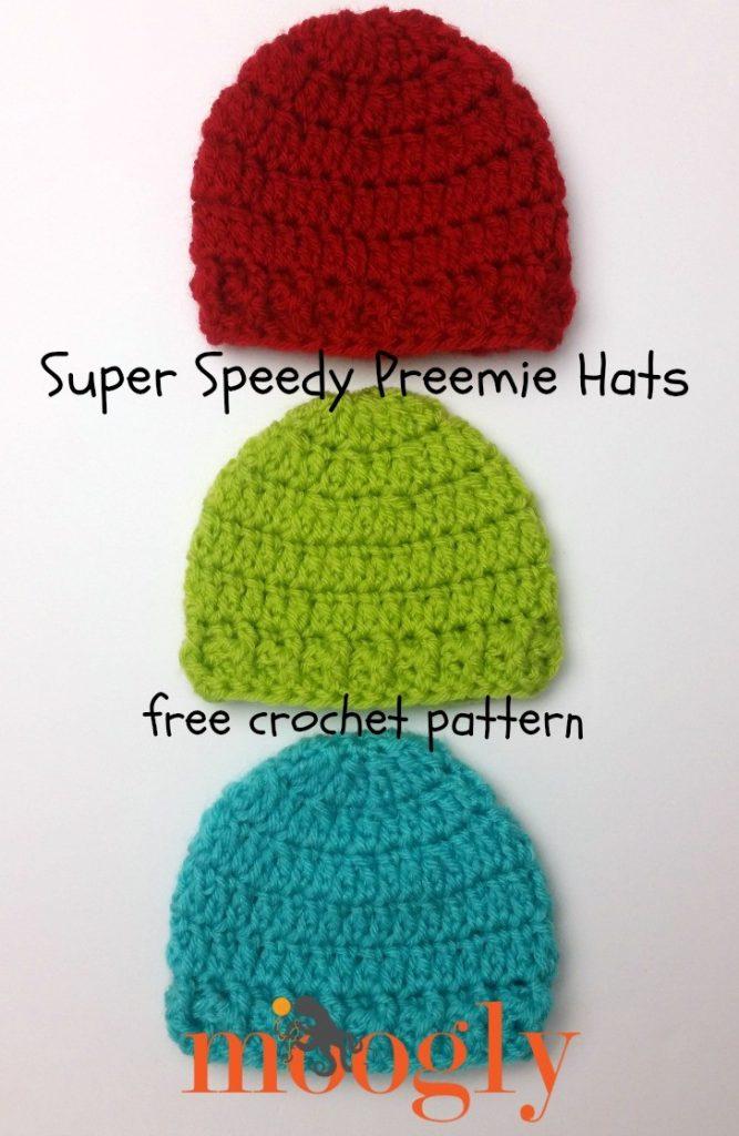 Free Crochet Pattern Preemie Sweater : Super Speedy Preemie Hat - moogly