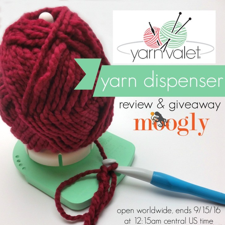 Yarn Valet Yarn Dispenser - see how it works and enter to win your own on Moogly! Giveaway ends 9/15/16 and is open worldwide!
