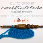 Extended Double Crochet (exdc)