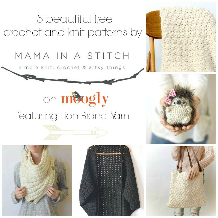 5 Beautiful Free Crochet and Knit Patterns from Mama In A Stitch!