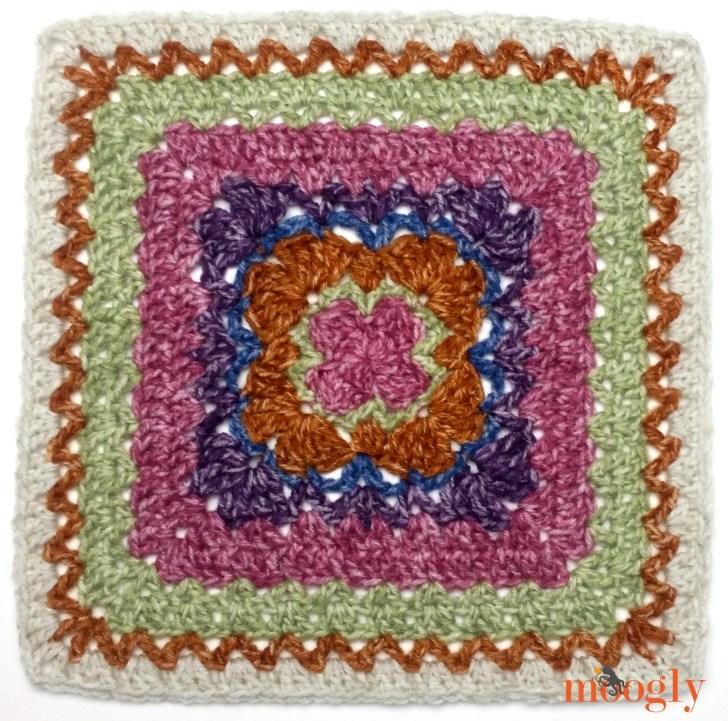 Block #21 in the Moogly Afghan CAL, by Andee Graves!
