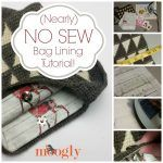 Make custom bag linings for your handmade bags - without sewing! Tutorial on Moogly!