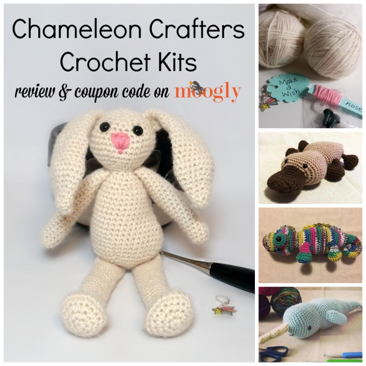 Chameleon Crafters Crochet Kits - Review and coupon code on Moogly!