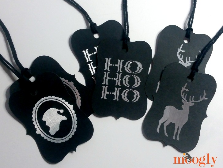 Awesome gift tags made with the Cricut Explore Air 2!