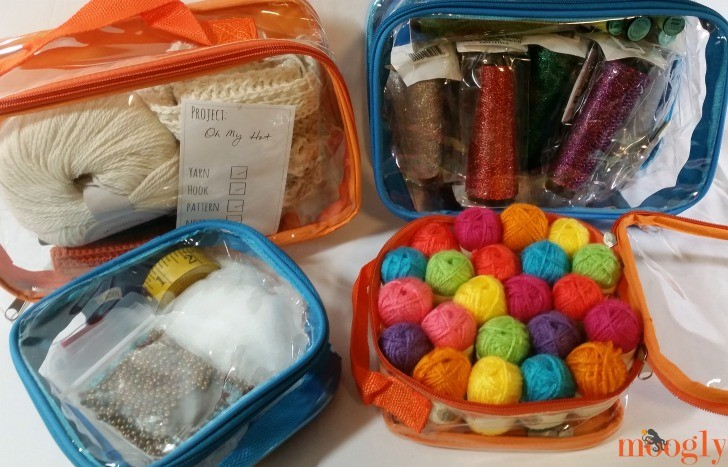 EzPacking Set - it's not just for travel! Use your cubes to organize your crochet!
