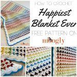 How to crochet the Happiest Blanket Ever! Right and left handed video tutorials for this FREE crochet pattern - on Moogly!