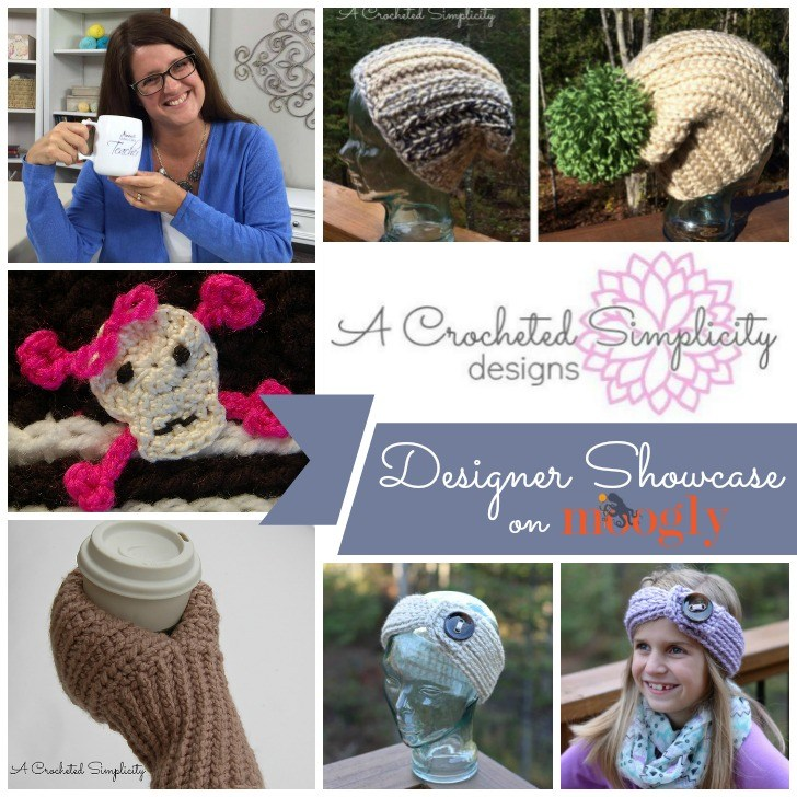 Jennifer Pionk of A Crocheted Simplicity: in the Moogly Designer Showcase!