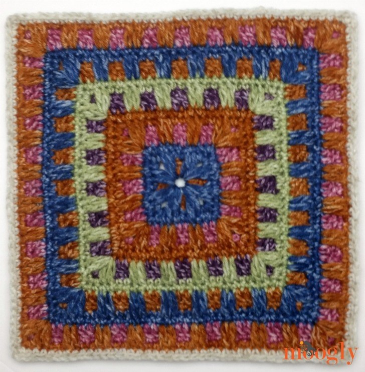 Block #23 in the Moogly Afghan CAL, by Petals to Picots!