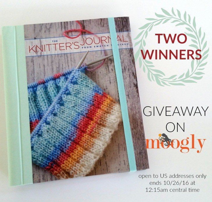 The Knitter's Journal - get a peek inside, and enter to win your own on Mooglyblog.com! Open to US addresses only, ends 10/26/16 at 112:15am central US time.