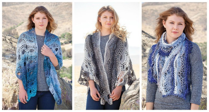 Annie's Autumn Bliss Collection - Shell Beach Stole and Shawl Crochet Pattern